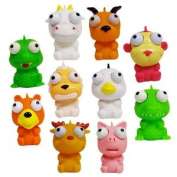 Cute Squishies * Animal Eye Poppers Set of 10