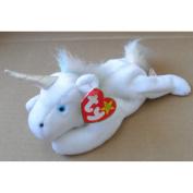 TY Beanie Babies Mystic the Unicorn Stuffed Animal Plush Toy - 20cm long - White