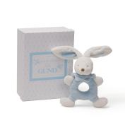 Gund Blue Bunny Rattle 7.6cm Plush