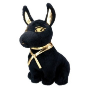 Black and Gold Anubis Dog Puppy Egyptian Stuffed Plush Doll