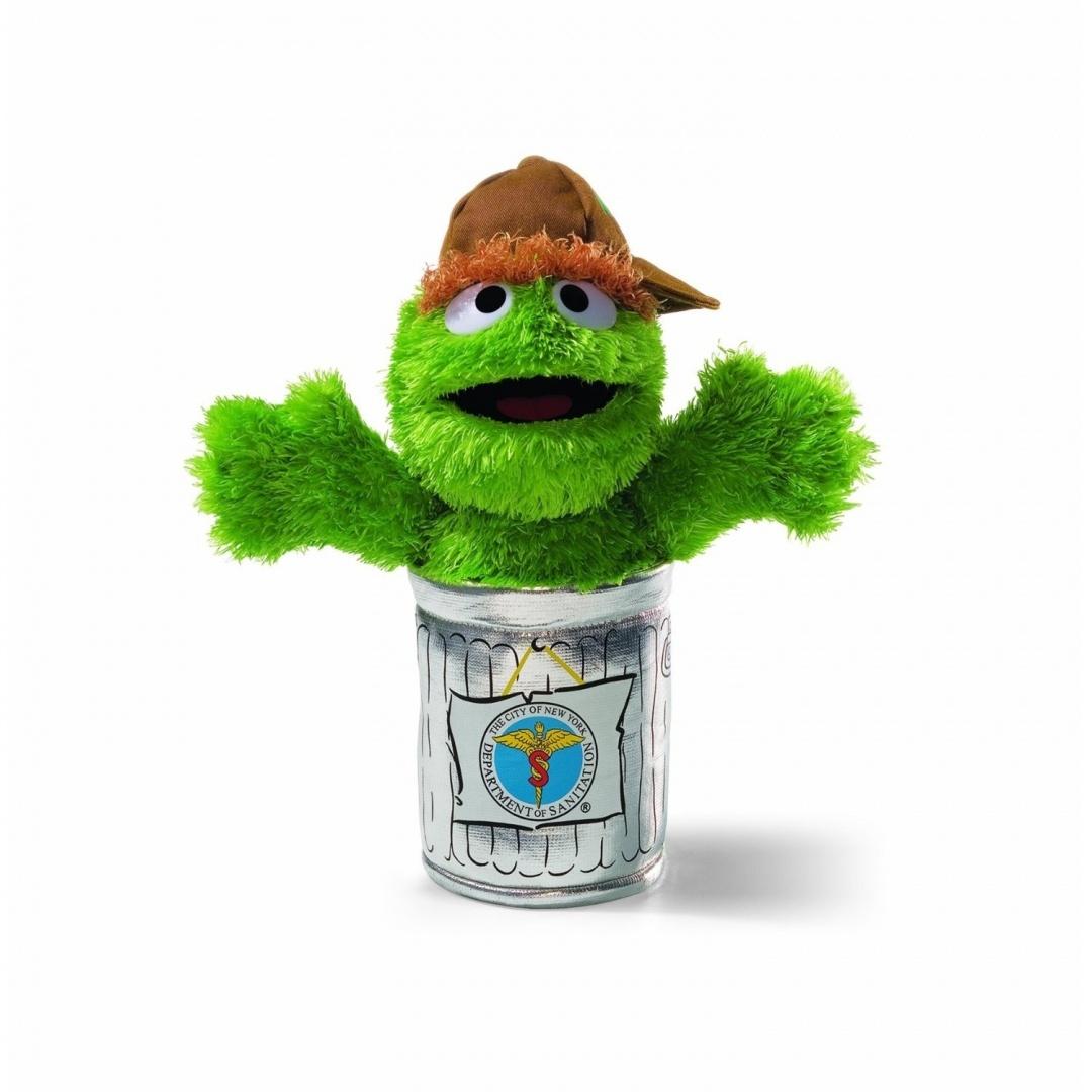 cda9262efba GUND Sesame Street Oscar the Grouch NYC Sanitation Worker Soft Toy ...