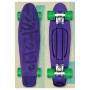 CLICHE PLASTIC CRUISER Retro Skateboard PURPLE/GREEN Trocadero 70's Mold