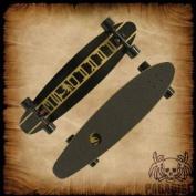 Paradise Rasta Hot Rod Complete Longboard, 28cm x 140cm