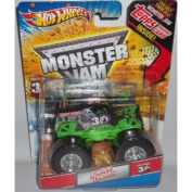 Hot Wheels Monster Jam Grave Digger's 30th Anniversary Series 1:64 Scale Grave Digger Monster Jam Truck with 30th Anniversary Design on the Side of Truck and Topps Trading Card Inside