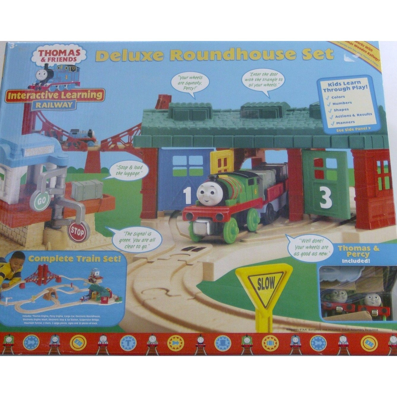 Thomas Deluxe Roundhouse Set COMPLETE TRAIN SET with Track by ...