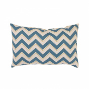 Pillow Perfect 473918 Chevron Rectangular Throw Pillow in Seaport