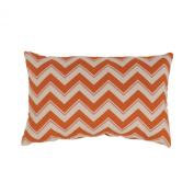 Pillow Perfect Chevron Grapefruit Rectangular Throw Pillow