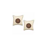 Surya LT5001-1818D Lotus 45.7cm . x 45.7cm . Down-Feather Decorative Pillow - Ecru