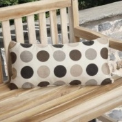 Mozaic Charisma Outdoor Brown Polka Dot Pillow Made with Sunbrella