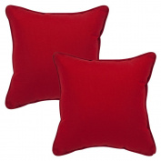 Pillow Perfect 355979 Decorative Red Solid Toss Pillows