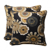 Pillow Perfect Decorative Square Toss Pillow (Set of 2) Colour