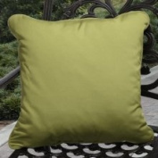 Clara Outdoor Green Throw Pillows Made with Sunbrella