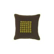 Surya BT1103-1818D 45.7cm . x 45.7cm . Down Filler Buttons Decorative Pillow - Chocolate