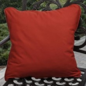 Clara Outdoor Red Throw Pillows Made with Sunbrella
