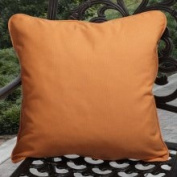 Clara Outdoor Tangerine Throw Pillows Made with Sunbrella