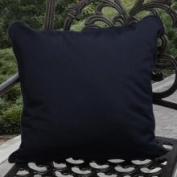 Clara Outdoor Navy Throw Pillows Made with Sunbrella