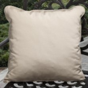Clara Outdoor Beige Throw Pillows Made with Sunbrella