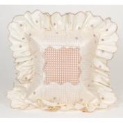 Glenna Jean Madison Pillows Mocha Dot Pillow with Ruffle