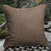 Clara Outdoor Textured Brown Throw Pillows Made with Sunbrella