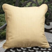 Clara Outdoor Textured Yellow Throw Pillows Made with Sunbrella