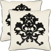 Safavieh Furniture PIL842A-1818-SET2 Greyson Decorative Pillows