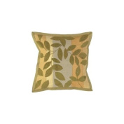 Surya Rugs PSTS9020-1818D Olive Leaves 18 x 18 Pillow w/ Down Fill - (In Down Fill