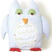 The Little Acorn S11P13 Forest Friends Owl Shaped Decorative Pillow