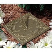 Whitehall Products 00489 Sunny Hours Sundial Copper Verdi