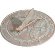 Whitehall 30.5cm Diameter Dragonfly Large Sundial, Copper Verdi