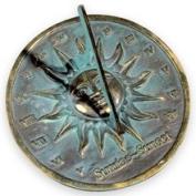 Rome Industries 2370 Brass Sunrise Sunset Dial - Brass with Verdigris