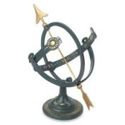 Rome Industries 1339 Cast Iron Armillary Sundial - Default