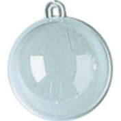 60mm Clear Plastic Acrylic Fillable Crystal Hanging Ball Ornament