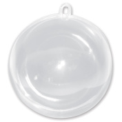 100mm Clear Plastic Acrylic Fillable Crystal Hanging Ball Ornament