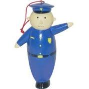 Blue Policeman Police Officer Christmas Ornament