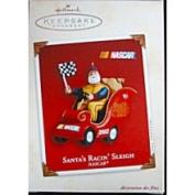 Hallmark Santa's Racin' Sleigh Ornament NASCAR