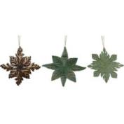Metal Star Ornaments Set of 3