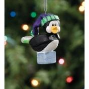 Chillinz Penguin Bully Sledding Christmas Ornament #05416