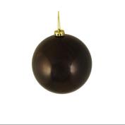 "Shiny Chocolate Brown Shatterproof Christmas Ball Ornament 6"""