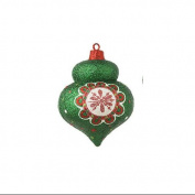 10.2cm Christmas Brites Sparkling Glittered Green Onion Christmas Ornament