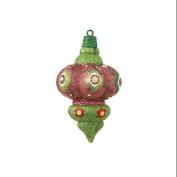 12.7cm Christmas Brites Sparkling Glittered Pink Finial Christmas Ornament