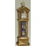Old World Christmas Grandfather Clock Glass Ornament