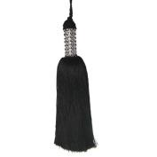 25.4cm Jewelled Black Tassel Christmas Ornament