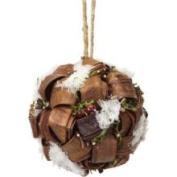 12.7cm Modern Lodge Moss and Rattan Berry Christmas Ball Ornament
