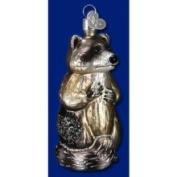 Old World Christmas Raccoon Glass Ornament