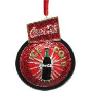 CC Home Furnishings Ice Cold Coca Cola Sign Board Christmas Ornament