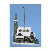 10.2cm Thomas Kinkade Country Church Christmas Ornament