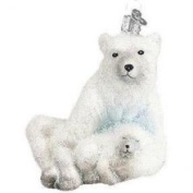 Old World Christmas Polar Bear with Cub Ornament