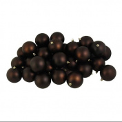 DAK 12ct Matte Chocolate Brown Shatterproof Christmas Ball Ornaments 4 100mm