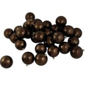 DAK 12ct Shiny Chocolate Brown Shatterproof Christmas Ball Ornaments 4 100mm