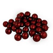 DAK 12ct Shiny Burgundy Shatterproof Christmas Ball Ornaments 4 100mm